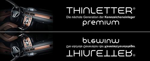 Thinletter premium - Kostenlose Kennzeicheneinleger